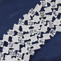 連 水晶 マカバスター クリアツヤなし 10mm 六芒星 神秘 幸運 魔除け 活性化 浄化 マルカバ 4月の誕生石 パワーストーン 品番: 12446