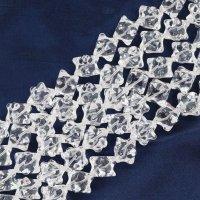 連 水晶 マカバスター クリア 12mm 六芒星 神秘 幸運 魔除け 活性化 浄化 マルカバ 4月の誕生石 パワーストーン 品番: 12450
