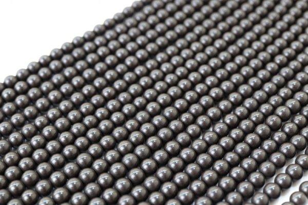 画像2: 連 北投石(黒)丸 4mm ラウンド 健康 美容 血行促進 薬石 マイナスイオン リラックス  品番: 12442