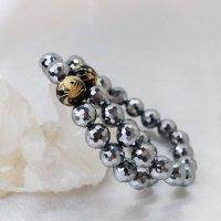 ブレス テラヘルツ × オニキス デザインブレス ミラーカット  約12mm テラヘルツ波 電磁波 美容 体質改善 成功 品番:12470
