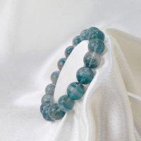 ブレス フローライト バイカラー 丸 約12mm前後 グラデーション 癒し 浄化 天然石 ブレスレット 品番:12481
