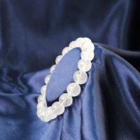 ブレス ガネーシュヒマール水晶 クォーツ AAランク 約10mm ガネーシュヒマール産 ヒーリング 浄化 天然石 品番: 12506
