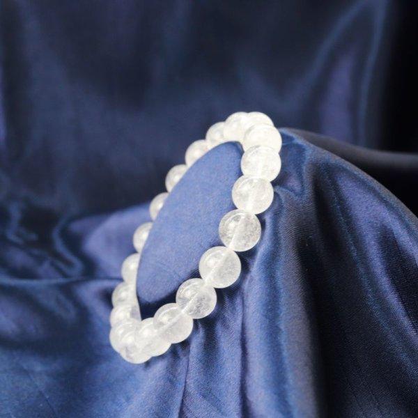 画像1: ブレス ガネーシュヒマール水晶 クォーツ AAランク 約10mm ガネーシュヒマール産 ヒーリング 浄化 天然石 品番: 12506
