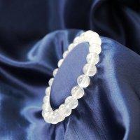 ブレス ガネーシュヒマール水晶 クォーツ AAランク 約8mm ガネーシュヒマール産 ヒーリング 浄化 天然石 品番: 12505