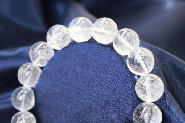 画像2: ブレス ガネーシュヒマール水晶 クォーツ TOPランク 約12mm ガネーシュヒマール産 ヒーリング 浄化 天然石 品番: 12504