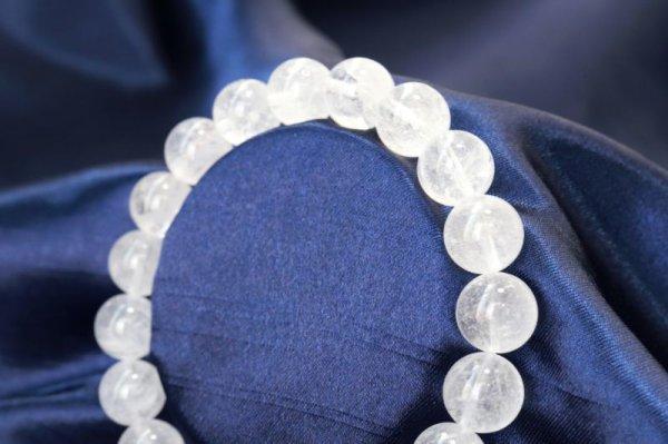 画像2: ブレス ガネーシュヒマール水晶 クォーツ AAランク 約10mm ガネーシュヒマール産 ヒーリング 浄化 天然石 品番: 12506