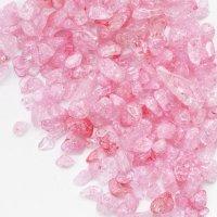 さざれ石 爆裂水晶 クラック水晶 ピンク カラー 100g パッケージ付き 浄化 開運 厄除け 品番: 12534