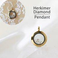 ペンダントトップ ゴールド ハーキマーダイヤモンド 小 ドリームクリスタル パワーストーン 品番:12562