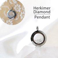 ペンダントトップ シルバー ハーキマーダイヤモンド 小 ドリームクリスタル パワーストーン 品番:12561