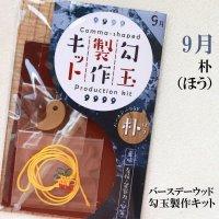 【バースデーウッド】勾玉製作キット 9月の誕生木 朴(ほう) 日本製 友情 包容力 安定 パワーズウッド 品番:12817
