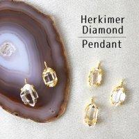 ペンダントトップ ハーキマーダイヤモンド チャーム ドリーム クリスタル 天然石 パワーストーン 品番:12842