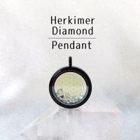 ペンダントトップ ブラック ハーキマーダイヤモンド 大 フラワーオブライフ さざれ 品番:12875