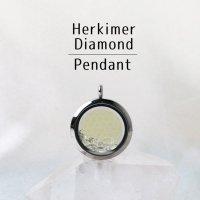 ペンダントトップ シルバー ハーキマーダイヤモンド 大 フラワーオブライフ さざれ 品番:12871