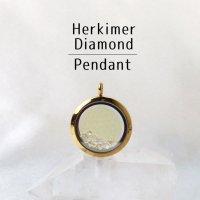 ペンダントトップ ゴールド ハーキマーダイヤモンド 大 フラワーオブライフ さざれ 品番:12869