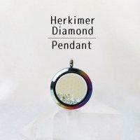 ペンダントトップ レインボー ハーキマーダイヤモンド 大 フラワーオブライフ さざれ 品番:12877