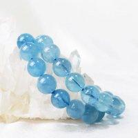 ブレス アクアマリン 丸 12.5mm 藍玉 藍柱石 青 ブルー 3月誕生石 品番:13125