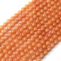 連 アベンチュリン オレンジ 丸 8mm 恋愛 健康 天然石 品番:13142