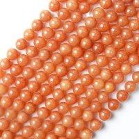 連 アベンチュリン オレンジ 丸 12mm 恋愛 健康 天然石 品番:13143