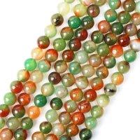 連 赤緑メノウ 丸 12mm アゲート 癒し 守護 健康 天然石 品番: 13228