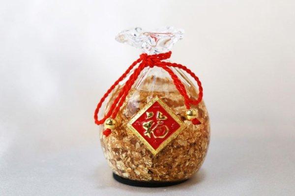 画像3: 置物 黄金の福袋 金箔 風水 開運 幸福 幸運 金運 運気上昇 幸運の福袋 彫り物 品番: 13235