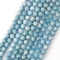 連 アクアマリン 丸 12mm 青 ブルー 藍玉 藍柱石 3月誕生石 品番: 11195