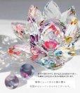 画像6: クリスタルガラス 蓮花台 お皿 中サイズ グリーンカラー 風水 置物 彫り物 品番:13304