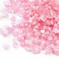さざれ 爆裂水晶 クラック水晶 桃 ピンク カラー 約1kg 浄化 開運 厄除け 品番:13470