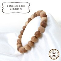 【パワーズウッド】ブレス 栗瘤 〈日本〉 8mm くりこぶ 勇気をくれる 力強さ 人間的成長 円満 品番: 13518
