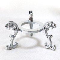 丸玉台 シルバー 大 約6.5cm 真鍮製 銀色 丸玉台座 ディスプレイ 品番:13524