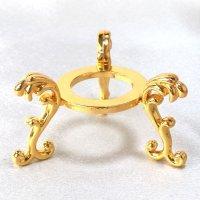 丸玉台 ゴールド 大 約6.5cm 真鍮製 金色 丸玉台座 ディスプレイ 品番:13526