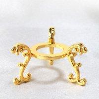 丸玉台 ゴールド 小 約4.5cm 真鍮製 金色 丸玉台座 ディスプレイ 品番:13525