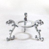 丸玉台 シルバー 小 約4.5cm 真鍮製 銀色 丸玉台座 ディスプレイ 品番:13523