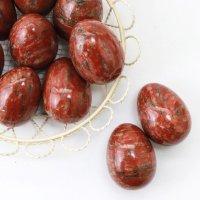 置物 玉子 レッドジャスパー たまご 卵 赤 健康 行動力 決断力 判断力 エネルギー 品番:13543
