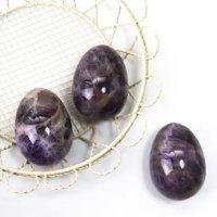 置物 玉子 アメジスト たまご 卵 紫 癒し 浄 2月誕生石 天然石 品番:13535