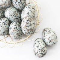 置物 玉子 天山ブルー たまご 卵 安定感 緊張感 洞察力 サポート エネルギー 天然石 品番:13540