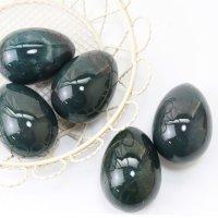 置物 玉子 モスアゲート たまご 卵 健康 癒し 天然石 品番:13542