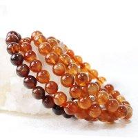ブレス プラジオクレースムーンストーン 丸 約10mm チベット産 ブラウン 美しい 天然石 品番: 13555