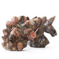 置物 彫り物 ユニコーン ジャスパー 健康 行動力 決断力 判断力 エネルギー 恋愛運 結婚運 品番:13587