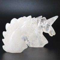 置物 彫り物 ユニコーン 水晶 クォーツ 浄化 エネルギー 恋愛運 結婚運 パワーストーン 品番:13577