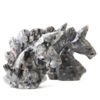 置物 彫り物 ユニコーン ラルビカイト 知性 合理性を高める お守り パワーストーン 品番:13579