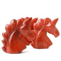 置物 彫り物 ユニコーン レッドジャスパー 赤 健康 行動力 決断力 判断力 エネルギー 恋愛運 結婚運 品番:13580