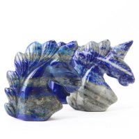 置物 彫り物 ユニコーン ラピスラズリ 9月誕生石 邪気を払う 恋愛運 結婚運 品番:13578