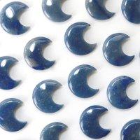 置物 ムーン 月 メノウブルー 染め 癒し 守護 健康 恋愛運 結婚運 彫り物 インテリア 天然石 品番:13633