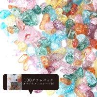 さざれ 爆裂水晶 クラック水晶 ミックス オリジナルパッケージ付 100gパック 浄化 開運 厄除け 品番: 13677