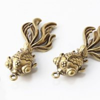 パーツ 金魚 銅製 風水 財運 パワー 金運アップ 品番:13722