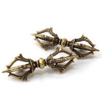 置物 五鈷杵 ごこしょ 銅製 風水 金剛杵 強い力 お守り 品番:13729
