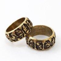 指輪 干支 えと 銅製 風水 十二支 幸せ リング アクセサリー 品番:13731