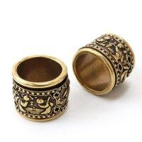 指輪 麒麟 スピンリング キリン 銅製 風水 平和 安定 リング アクセサリー 品番:13732
