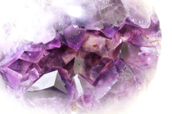 画像2: 置物 笑ロアメジストジオード 大 約1.4kg ウルグアイ産 紫 パープル 風水 運気 金運 財運 パワーストーン 【一点物】 品番:13830