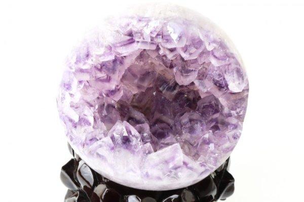 画像2: 置物 笑ロアメジストジオード 大 約1.4kg ウルグアイ産 紫 パープル 風水 運気 金運 財運 パワーストーン 【一点物】 品番:13827